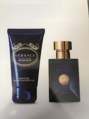 Dylan Blue Versace Pour Homme Gift Set 30ml Eau De Toilette And 50ml Shower&bath