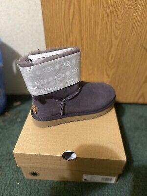UGG Mini Bailey Bow II Boots for Women, Size 7 - Nightfall