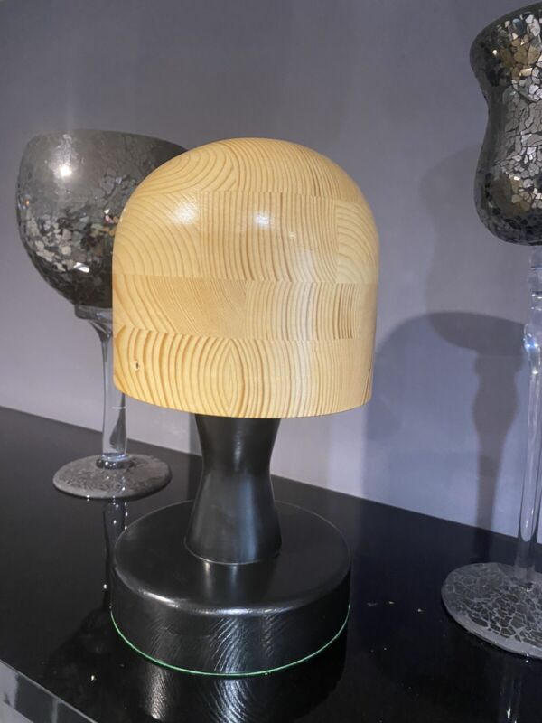 MILLINERY WOODEN HAT BLOCK. Oval on Loose Stand, Made To Order With Your Sizes