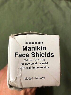 36 Stück. Laerdal Manikin Face Shields Übungsbeatmungstücher (Laerdal Face Shields)