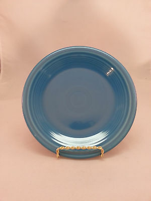 "Fiesta 7 1/4"" Salad Plate Peacock Blue Retired Fiestaware pf.591"