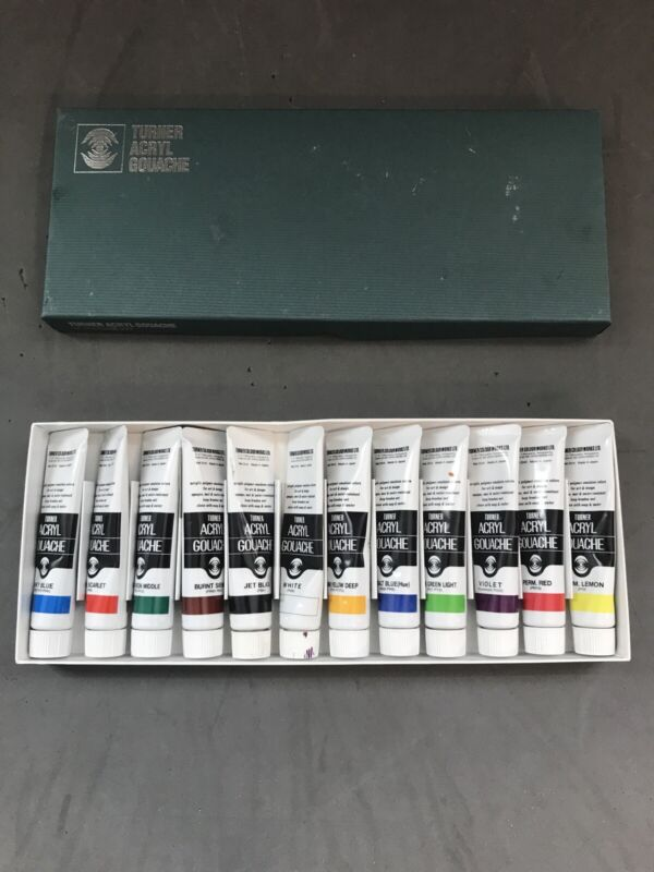 Turner Acryl Gouache Set of 12 20 ml Tubes - Pre-Owned