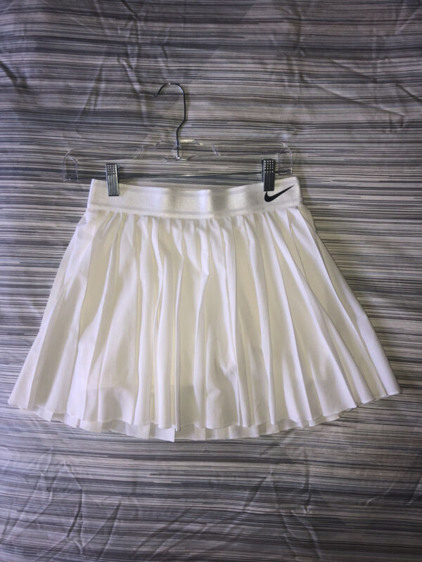 NWOT Nike Court Victory Pleated Tennis Skirt Skort 933218-100 SIZE SMALL White