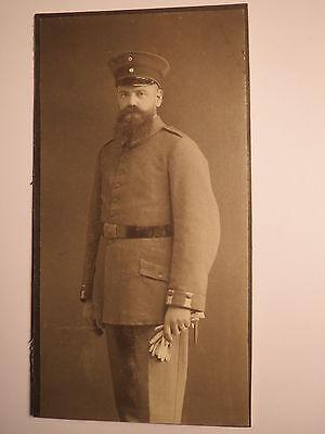 Soldat mit Bart in Uniform - Berlin Hamburg ? eventuell Landsturm ? Smiley ? KAB