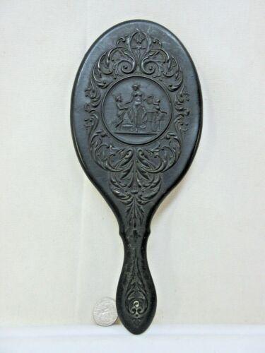 Antique Victorian Gutta Percha Aphrodite Nude Hand Mirror Patented June 19 1866