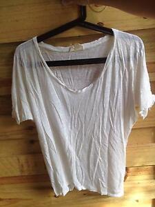 AMERICAN VINTAGE t-shirt, white, size S Caloundra Caloundra Area Preview