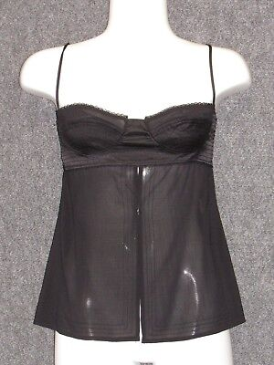 LA PERLA Black Baby Doll Strapply Glamour Chemise SZ 2 NEW for sale  Shipping to India