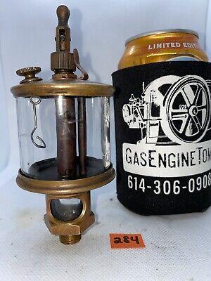 Michigan Lubricator 484-1a Brass Oiler Hit Miss Gas Engine Steampunk Antique