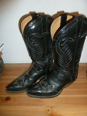Sendra Boot Cowboystiefel Westernstiefel  - Schwarze Cowboy Stiefel