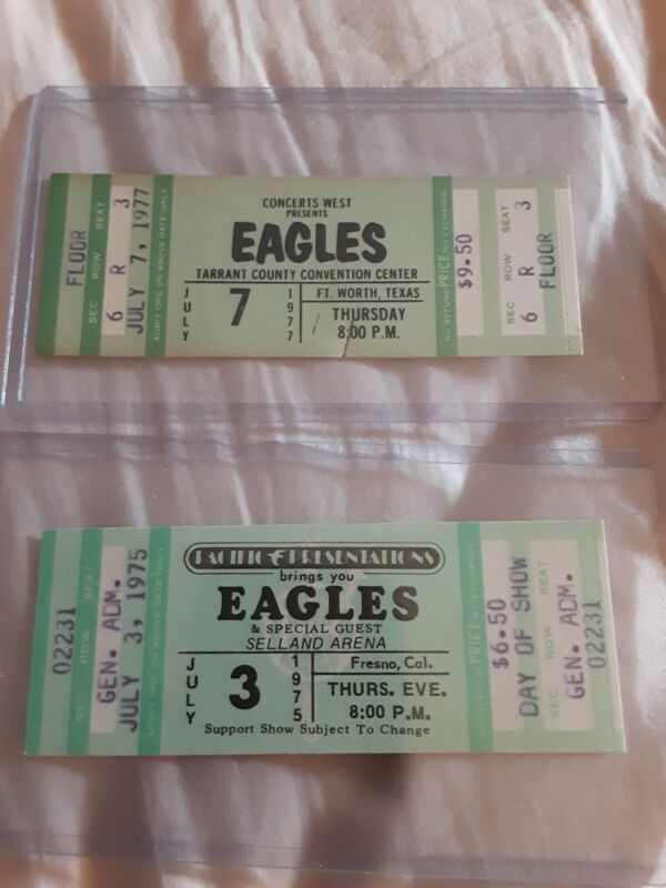 The Eagles 5 Concert Tickets RARE