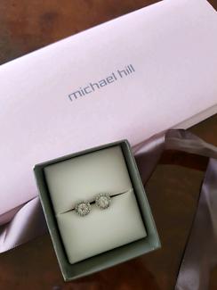 Michael Hill white gold diamond earrings