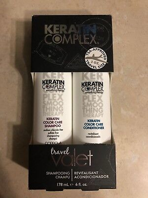 - Keratin Complex Color Care Shampoo and Conditioner 3 oz Travel Valet DUO