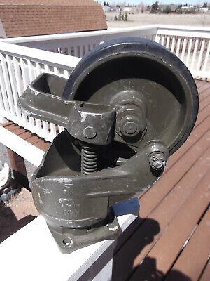 Aerol Heavy Industrial Swivel Cart Wheel Lot Foot Brake Od Military Green
