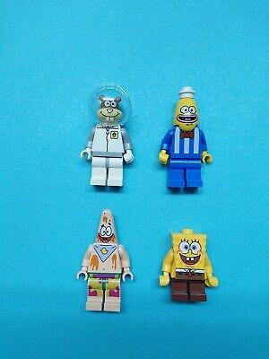 Lego SpongeBob SquarePants Lot Full Set of 4 Minifigures 3816 Glove World!