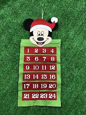 Disney Mickey Mouse Felt Advent Calendar Christmas Countdown