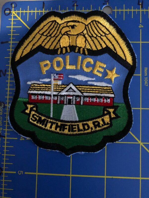Smithfield R.I. Police Department Patch Eagle Shield Badge RI Rhode Island Cops