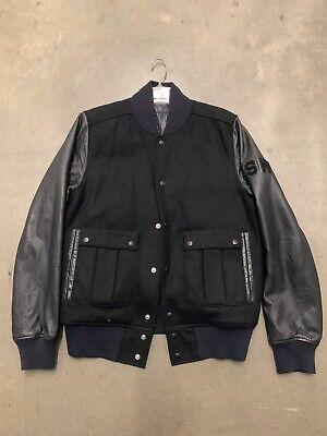 Men's NIKE Medium Black Varsity Jacket Snap Button