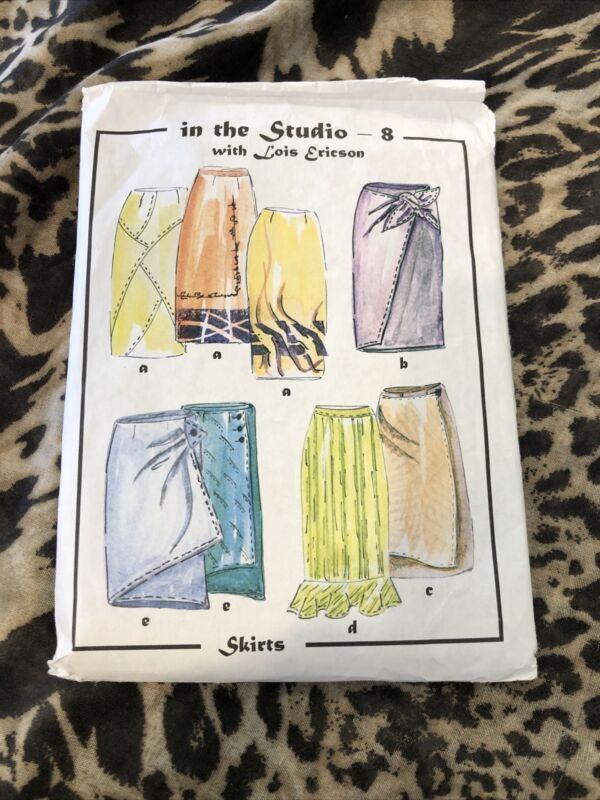 NEW & UNCUT SEWING PATTERN IN THE STUDIO - 8 LOIS ERICSON  SKIRTS  (sp108