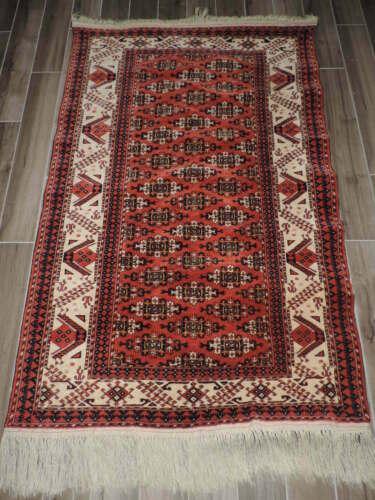 4x6ft. Handmade Turkoman Bokharra Wool Rug