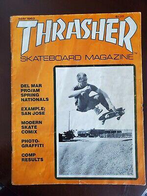 Thrasher Magazine May 1983 Vintage Skateboard