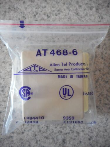 Lot of 17 NEW Allen Tel Products AT468-6 Modular Surface Jacks Ivory