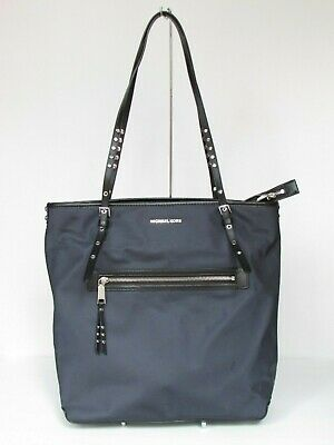 NEW Michael Kors Leila Navy Nylon Large Tote Shoulder Handbag