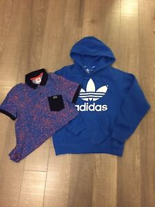 Adidas Hoodie + Lacoste Live Polo