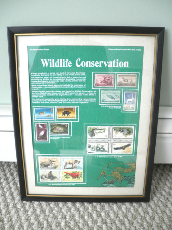 WILDLIFE CONSERVATION Stamps Framed Tribute- Postal Commemerative Society: FISH,