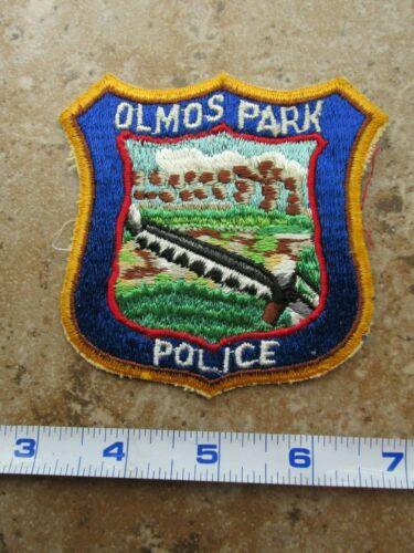 OBSOLETE Vintage State of Texas San Antonio Olmos Park Police Patch