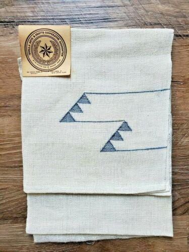 Vintage Qualla Arts & Crafts Cooperative Assoc Linen Towel NOS