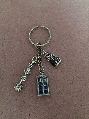 Dr who Keyring Police Box, Screwdriver & Dalek