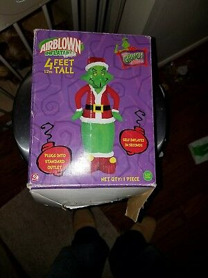 Airblown Light-Up Grinch 4' Christmas Inflatable Outdoor Decor