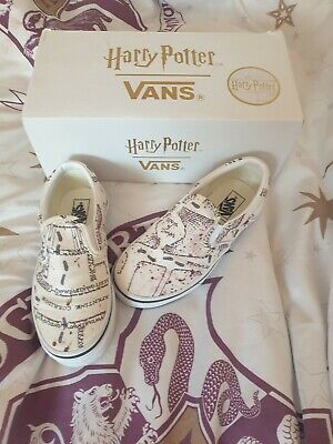 Vans Harry Potter Slip On - Marauders Map Classic White UK Size 12.5