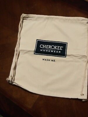NEW Canvas Drawstring Cherokee Authentic Workwear Bag
