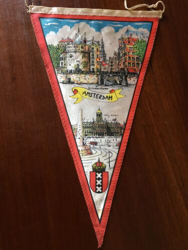 Vintage European travel Pennants/Flags Amsterdam