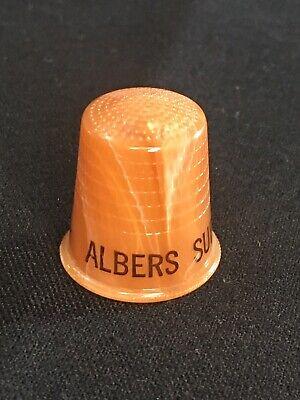 Vintage Albers Super Market Advertising Thimble