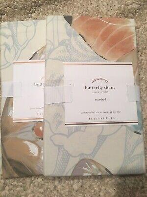Set/2 Pottery Barn Butterfly Print Standard Shams Beautiful!!