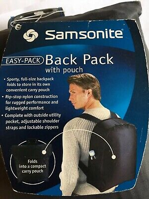 Samsonite Folded Backpack Black For Travel New 86550-1041