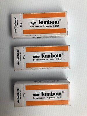 Lot Of 3 X Vintage Tombow Mono Small Plastic Eraser W-300 Korea