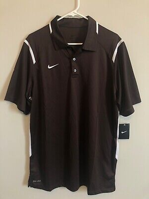 NEW Nike Game Day Short Sleeve Polo Golf Shirt Men's Large Brown 658085-257 Mens Game Day Polo