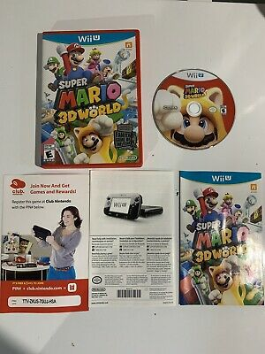 Super Mario 3D World (Wii U, 2013) Tested Complete