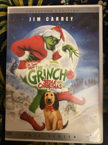 Dr Seuss How The Grinch Stole Christmas Dvd Collectors Edition - $2.00
