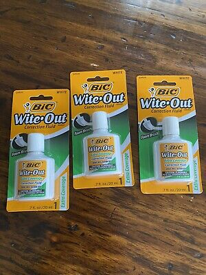3- 7 Oz Wite-out Extra Coverage Correction Fluid