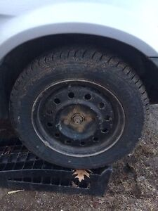 Studded winter tires