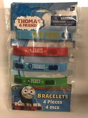 Thomas the Train Party supplies favors-bracelets wristbands 4ct. 399020