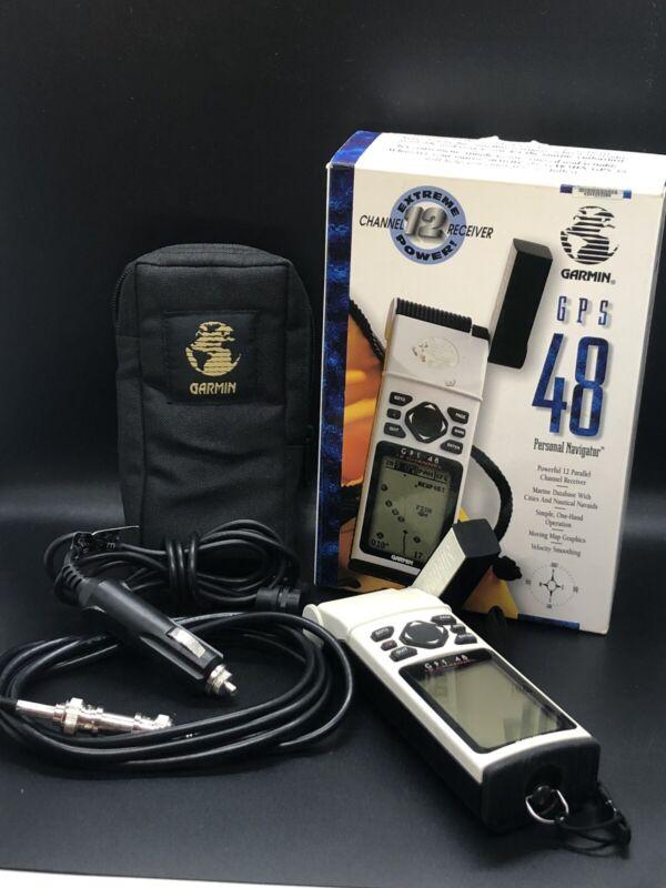 *IN BOX* GARMIN GPS 48 12 Channel Receiver Navigator, Marine Database *TESTED*