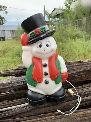 "VINTAGE 1999 CHRISTMAS EMPIRE 18"" SNOWMAN BLOW MOLD W/LIGHT CORD"