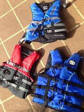 Three kids life jackets great condition near new Merino Glenelg Area Preview