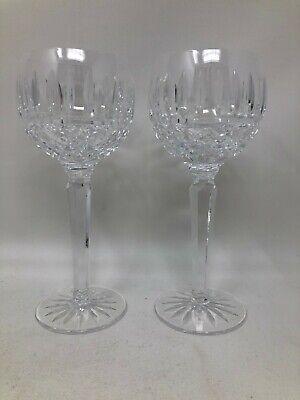 Waterford Crystal Maeve Pair Wine Hocks 7 3/8