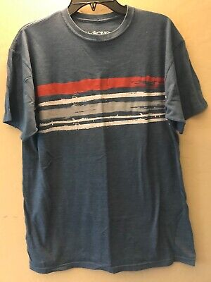 Men's BILLABONG XL T-shirt blue cotton poly blend pullover